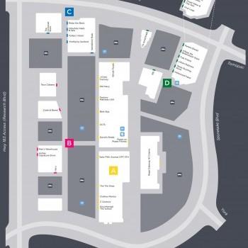 Plan of mall Gateway Shopping Centers