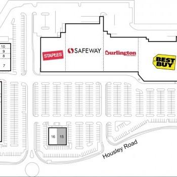 Plan of mall Gateway Village Shopping Center