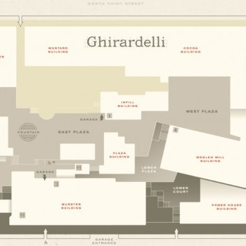 Plan of mall Ghirardelli Square