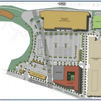 Plan of mall Glenwood Place