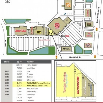 Plan of mall Grand Hunt Center