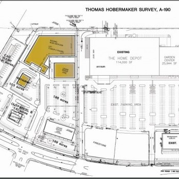 Plan of mall Grand Parkway Shopping Center