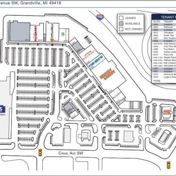 Plan of mall Grandville Marketplace