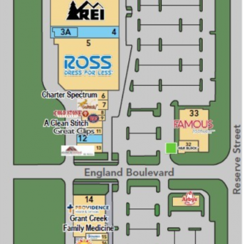 Plan of mall Grant Creek Town Center
