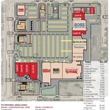 Plan of mall Green Bay Plaza