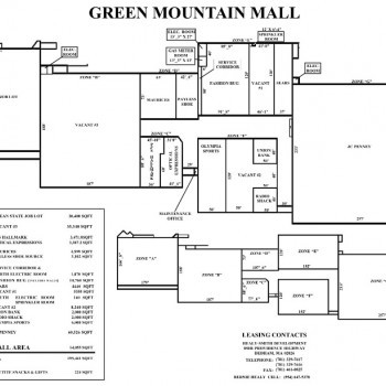 Plan of mall Green Mountain Mall