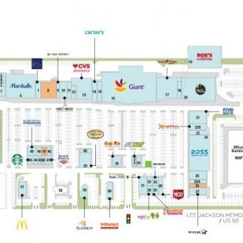 Plan of mall Greenbriar Town Center