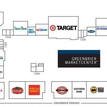 Plan of mall Greenbrier MarketCenter