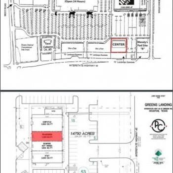Plan of mall Greens Landing