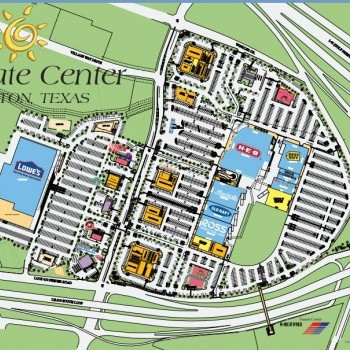 Plan of mall Gulfgate Center