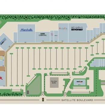 Plan of mall Gwinnett Market Fair