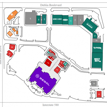 Plan of mall Hacienda Crossings