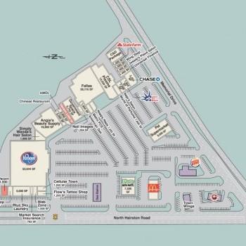 Plan of mall Hairston Village