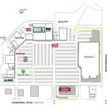 Plan of mall Hamilton Village Shopping Center