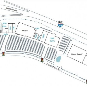 Plan of mall Hanes Point