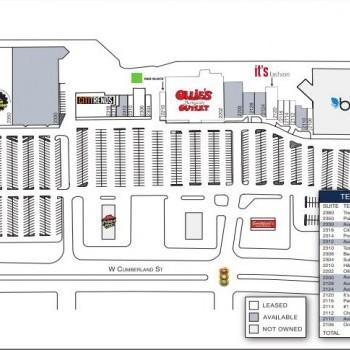 Plan of mall Harnett Crossing