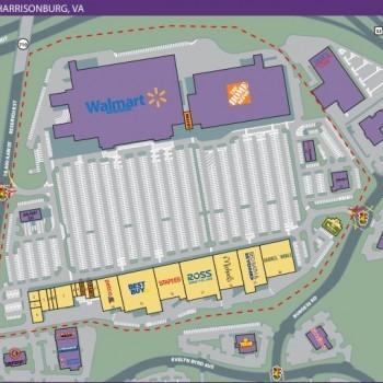 Plan of mall Harrisonburg Crossing