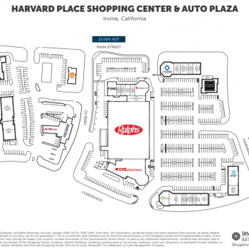 Plan of mall Harvard Place Shopping Center
