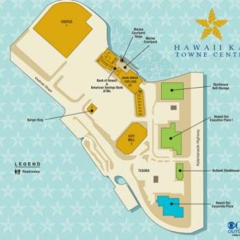 Plan of mall Hawaii Kai Towne Center