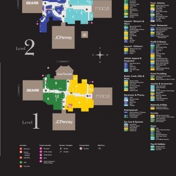 Hawthorn Mall Map Hawthorn Mall   store list, hours, (location: Vernon Hills  Hawthorn Mall Map