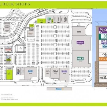 Plan of mall Hay Creek Shops