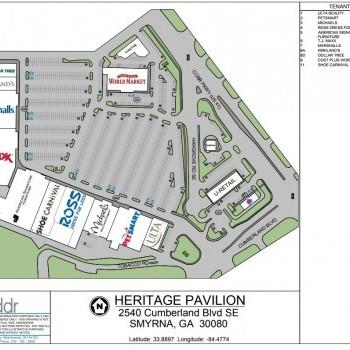 Plan of mall Heritage Pavilion