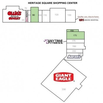 Plan of mall Heritage Square