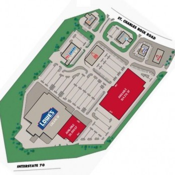 Plan of mall Hilltop Plaza