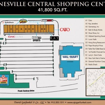 Plan of mall Hinesville Central