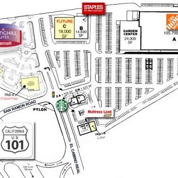 Plan of mall Home Depot Center