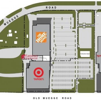 Famous Footwear in Home Depot Plaza - St Charles - store location plan