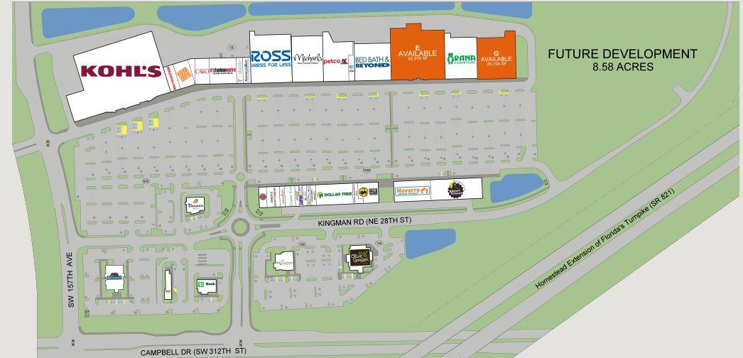 Map Homestead Florida.Homestead Pavilion Store List Hours Location Homestead