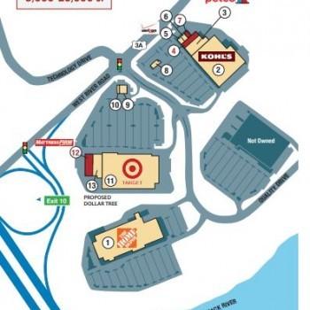 Plan of mall Hooksett Commons
