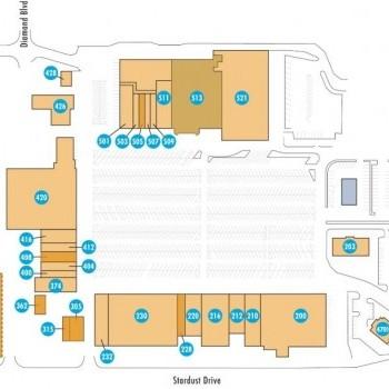 Plan of mall Huck Finn Shopping Center