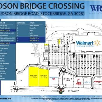 Plan of mall Hudson Bridge Crossing