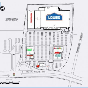 Plan of mall Hudson Commons
