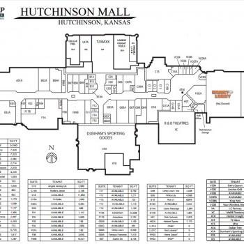 Plan of mall Hutchinson Mall