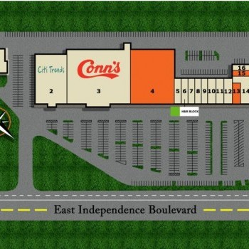 Plan of mall Independence Shopping Center