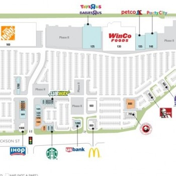 Plan of mall Indio Towne Center