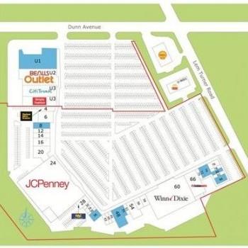 Plan of mall Jacksonville Regional