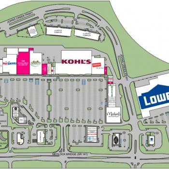 Plan of mall Johns Creek Town Center
