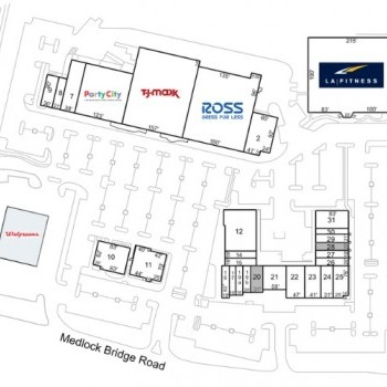 Plan of mall John's Creek Village