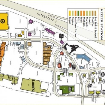 Plan of mall Keizer Station Village Center