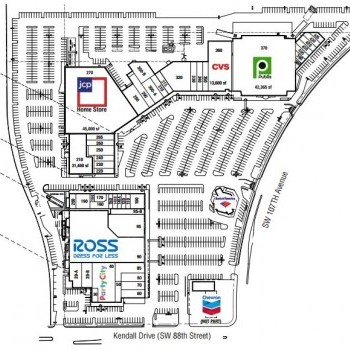 Plan of mall Kendall Mall