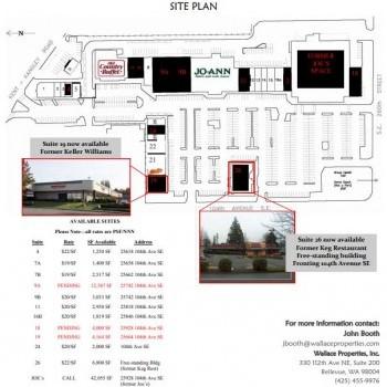 Plan of mall Kent Hill Plaza Shopping Center