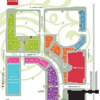 Plan of mall Kent Station