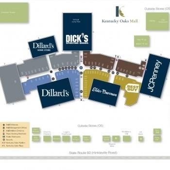 Plan of mall Kentucky Oaks Plaza
