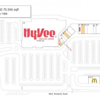 Plan of mall Kimberly West Shopping Center