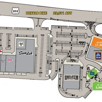 Plan of mall King of Prussia Town Center