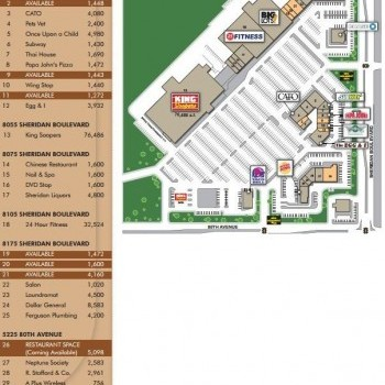 Plan of mall King Square Center